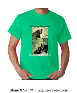 Yellowstone Honeymooners Black Bear Family T-Shirts Design Zoom