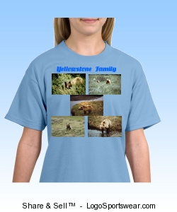 Blond Bears In Yellowstone T-Shirt Design Zoom