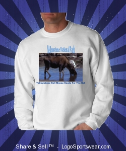 Yellowstone Bull Moose During Fall Rutting Season Design Zoom
